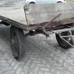 Oude melkwagen